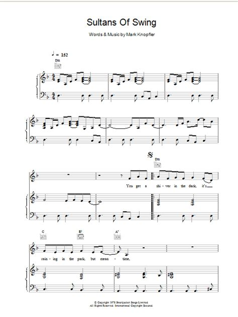 sultans of swing chords sultans of swing sheet direct