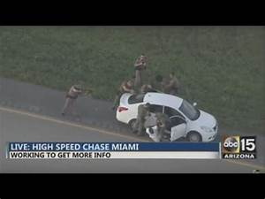 Miami Crazy High Speed Car Chase - BUSTED!! - YouTube