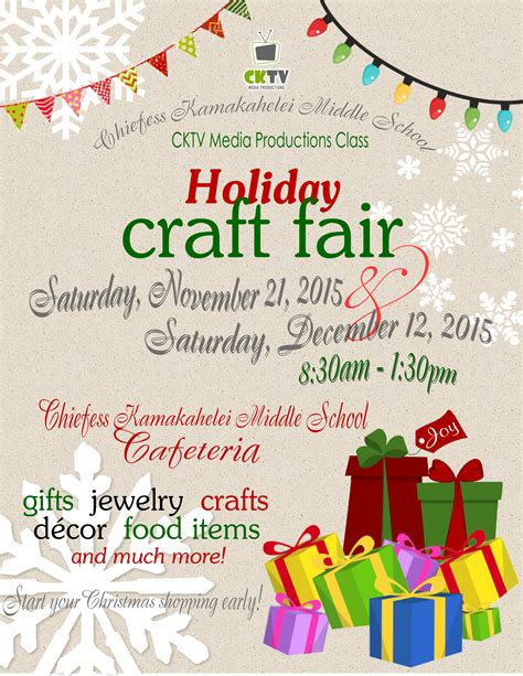 Holiday Craft Fair  Kauaicom Events Calendar
