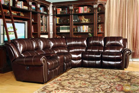 brown leather sectional living poseidon traditional brown leather power