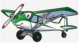 Cartoon Airplane Backcountry Pilot With Cartoon Plane