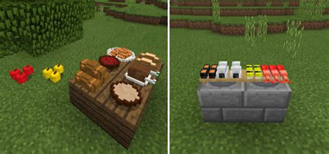 placeable food addon minecraft pe mods addons