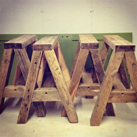 reclaimed  horses  table legs wood projects