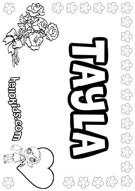 girls  coloring pages tayla girly   color