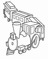 Coloring Pages Train Trains Printable Toy sketch template