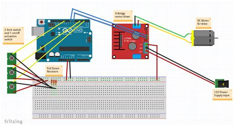 Stopping Starting Motor With Limit Switches