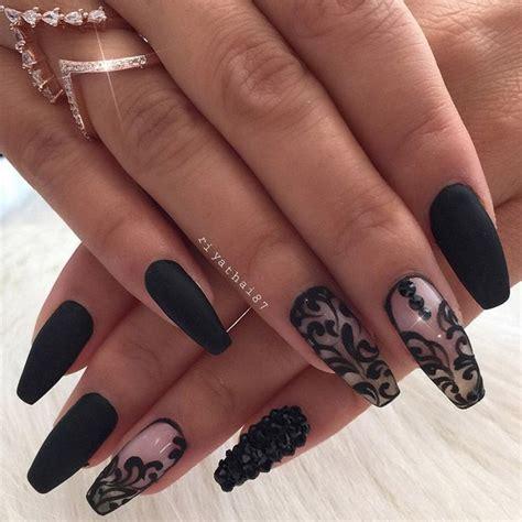Дизайн ногтей с чёрным лаком фото особенности что нужно учесть . — онлайн журнал