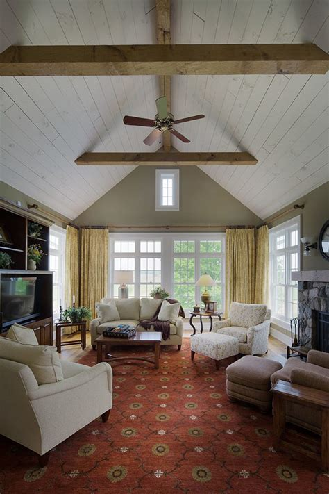 rustic kitchen islands and carts cathedral ceiling farmhouse restoration living room
