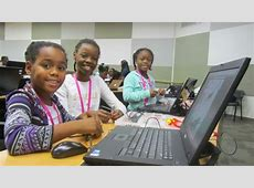 120+ Young Women Participate in Black Girls Code Robot