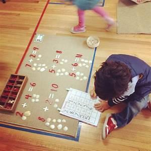 Montessori math exercises....I like the pic n name of kid ...