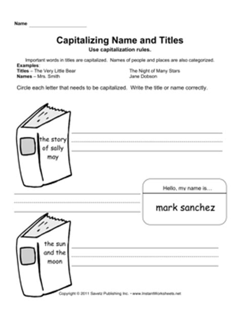 capitalizing names titles primary