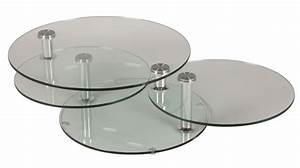 Table Basse En Verre Pas Cher : table basse en verre 3 plateaux joko le bois chez vous ~ Teatrodelosmanantiales.com Idées de Décoration