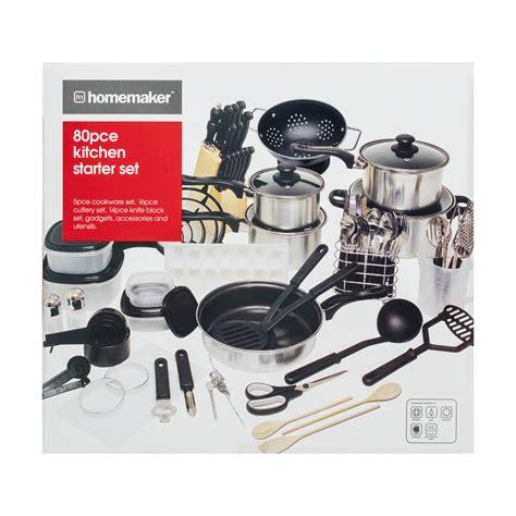 kitchen starter kit 80 kitchen starter set kmart