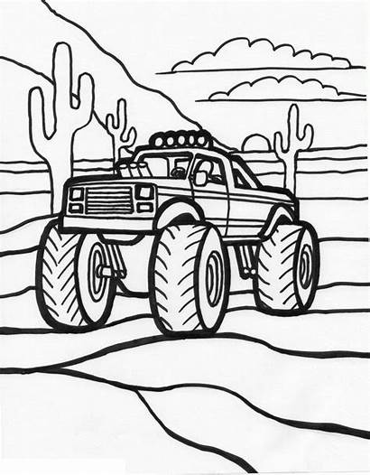 Coloring Monster Truck Printable