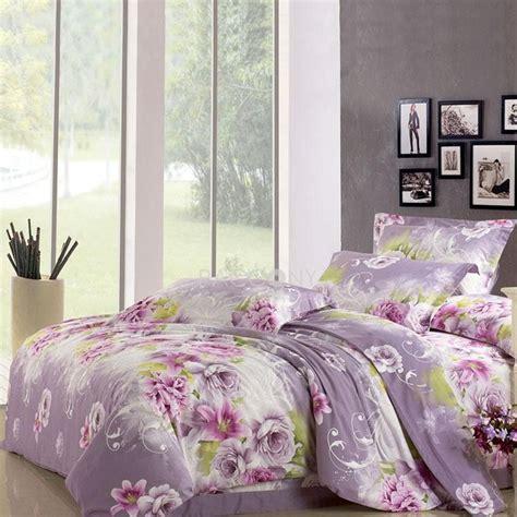 comforter bed sets king tolie lavender floral reactive print cotton 4