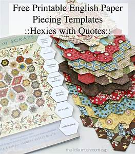 Free Printable Hexagon English Paper Piecing Template