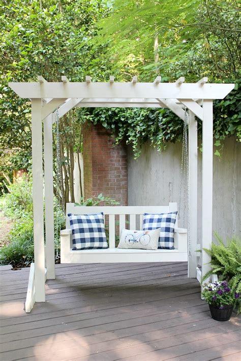 diy porch swing pergola sincerely marie designs