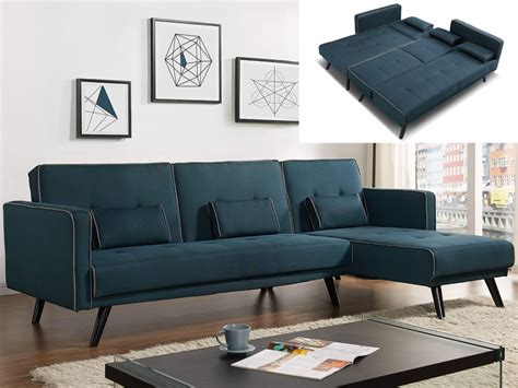 canapé tissu bleu canapé modulable et convertible tissu bleu canard calobra