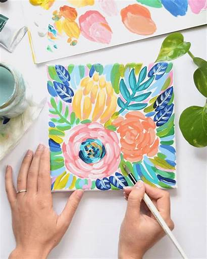 Painting Acrylic Beginners Floral