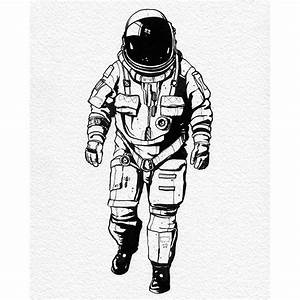 astronaut drawing artist ink on Instagram