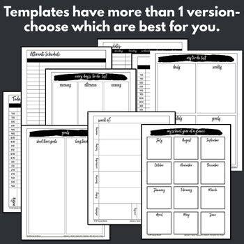 calendar printables teacher planner pages