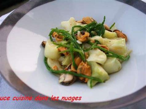 salicorne cuisine recettes de salicorne et moules