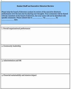 Cover Letter Non Profit Sample Executive Director Evaluation Survey Form Blue Avocado