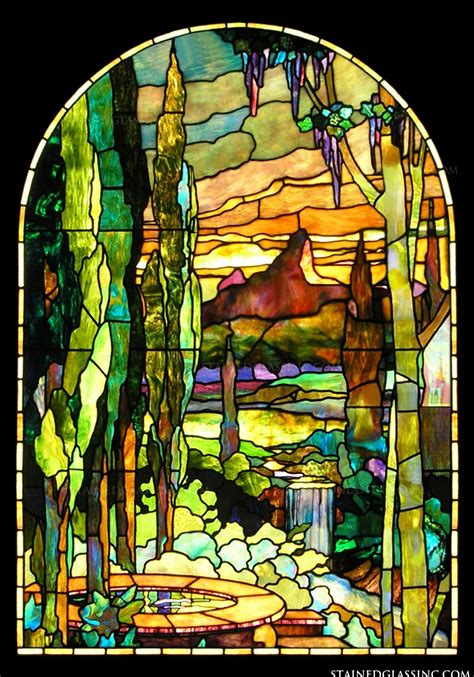 tiffany stained glass l quot tiffany scape quot stained glass window