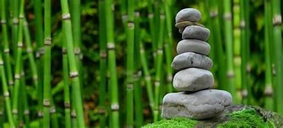 Zen Bamboo Meditation Garden Monk Stones 4k