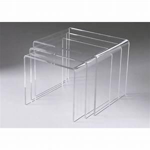 Table En Plexiglas : tables basses transparentes gigognes triade ~ Teatrodelosmanantiales.com Idées de Décoration