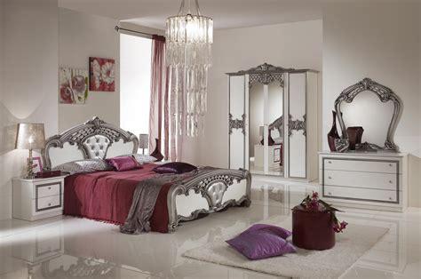 Luxus Schlafzimmer Elena Weißsilber Italienisches Design