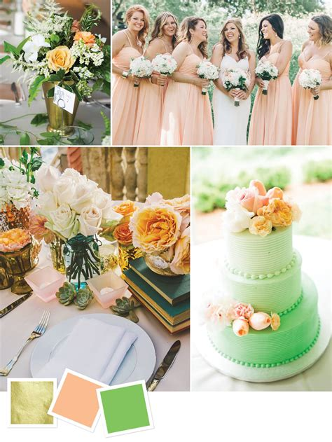 Gold Peach Green Good For Outdoor Summer Wedding