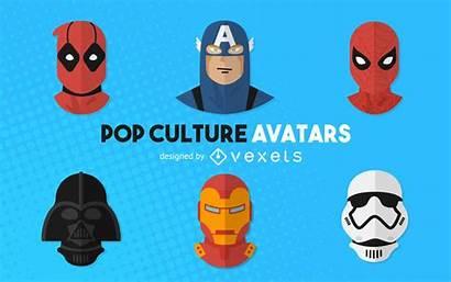 Pop Culture Avatars Vexels Vector 25k Ai