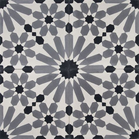 black and white cement tile moroccan cement tile zoco home