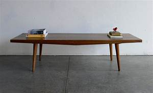 vintage mid century modern coffee table bench With small mid century modern coffee table