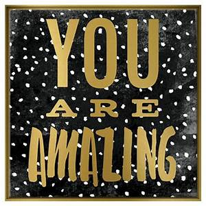 You Are Amazing Framed Canvas - Pillowfort : Target