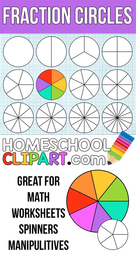 free fraction circles make your own printable fraction
