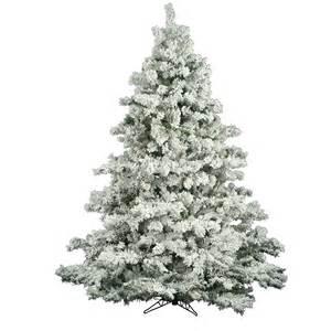 7 5 foot flocked alaskan christmas tree unlit a806375