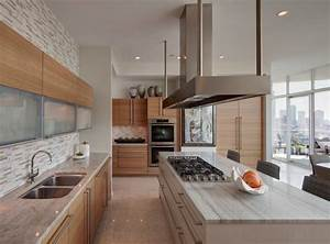 Kitchen Modern Luxury Kitchen With Rich Wood Cabinets And