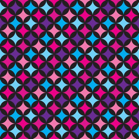 vector seamless pattern illustration  blue  pink