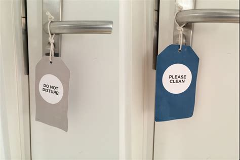 physical quot do not disturb quot tags in hotels how can they