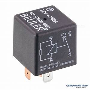 Beuler Bu5084w Waterproof 12 Vdc Automotive 5 60a Without Tab And Negative