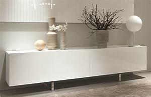 [10surdix] Bahut Square – 256 cm – Laqué blanc & Top