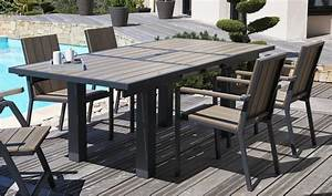 Table De Jardin En Aluminium Avec Rallonge : table de salon de jardin en aluminium salon de jardin aluminium blanc maison email ~ Teatrodelosmanantiales.com Idées de Décoration