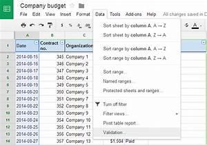 Data Validation Google Sheets 3
