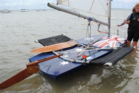 Hydrofoil Boat Gumtree by Late 1970s Plywood Moth Dinghy With Wings Aussie Scow For