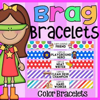 Color Brag Bracelets  Classroom Behavior Management By My Teaching Pal