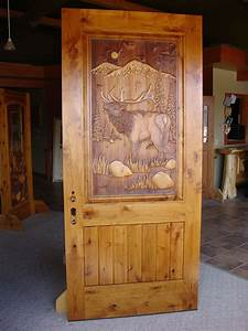 Carved, Wood, Entry, Door