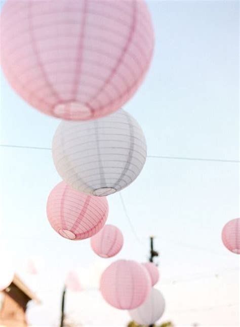 pink and white wedding lantern ideas