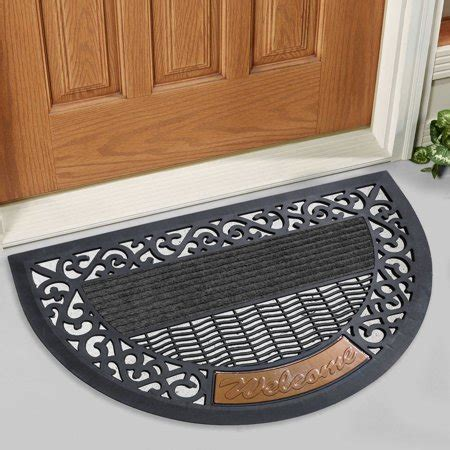 semi circle doormat fh indoor outdoor semi circle 16 quot x 30 quot rubber and